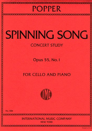 POPPER - Spinning Song Op.55 nº 1 para Violoncello y Piano