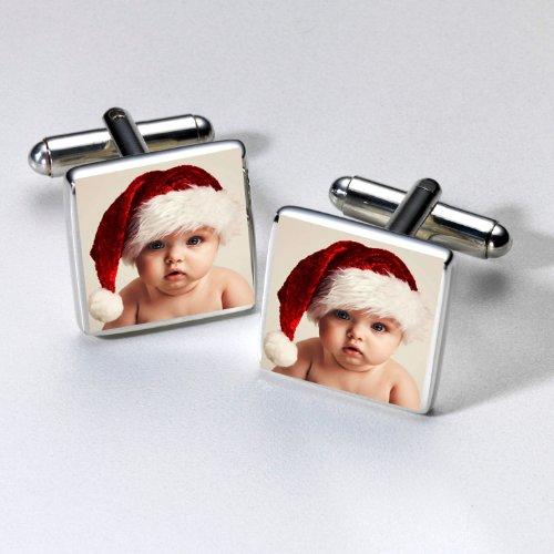 Manschettenknöpfe, personalisiert mit Foto, versilbert