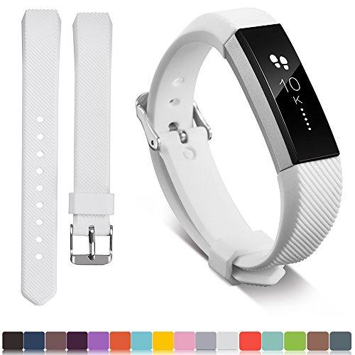 Für Fitbit Alta / Alta HR Ersatz Armband + Free HD Displayschutzfolien, iFeeker Soft Silikon Verstellbare Armbanduhr Ansehen für Fitbit Alta / HR Activity Fitness Armband