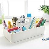 Srxes desk organizer makeup Container desk Storage box Multi-purpose cosmetics organizer office basket