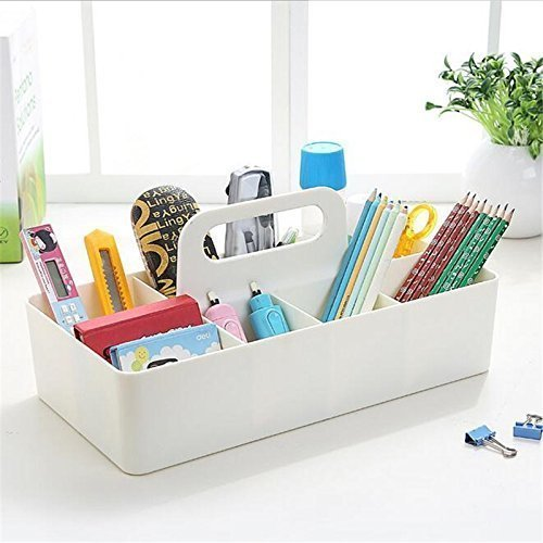 Srxes desk organizer makeup Container desk Storage box Multi-purpose cosmetics organizer office basket