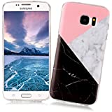 Coque Samsung Galaxy S7 EDGE XiaoXiMi Etui en Marbre Texture Housse de Protection Soft TPU Silicone Case Cover Coque Flexible Lisse Etui Ultra Mince Poids Léger Housse Anti Rayure Anti Choc pour Samsung Galaxy S7 EDGE - Géométrique