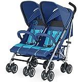 Cybex Twinyx - Silla de paseo gemelar, desde el nacimiento hasta 35 kg aprox., color azul marino