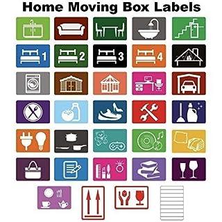 Home Moving farbcodierter Kiste Etiketten / Aufkleber - Ordnen von Your House Umzug - Large Pack - 720 Stickers