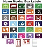 Home Moving farbcodierter Kiste Etiketten / Aufkleber - Ordnen von Your House Umzug - Large Pack - 720 Stickers