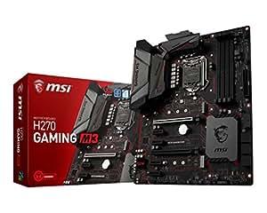 MSI H270 Gaming M3 Scheda Madre, Formato ATX, Chipset Kabylake, Nero