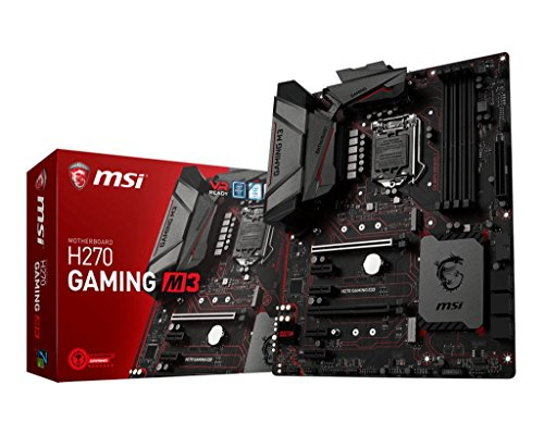 MSI H270 GAMING M3 - Placa base Entusiasta (Chipset Intel H270, DDR4 Boost, Audio Boost, VR Ready, Military Class V)