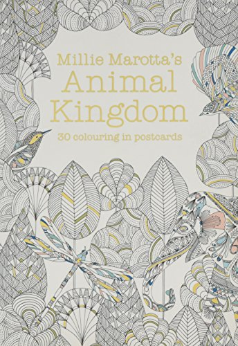Millie Marotta's Animal Kingdom Postcard Book: 30 beautiful cards for colouring in