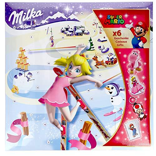 Milka Adventskalender SUPER MARIO BROS. EDITION (26 - tlg. / 148 Gramm) MOTIV FREI WÄHLBAR (PRINZESSIN PEACH) (Luigi Und Prinzessin Peach)
