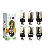 6×GreenSun 12W E27 LED Energiespar Mais Birnen SMD 5736 Hochleistungs Lampen warmes Weiß Wechselstrom 80W Glühlampe Equivalent