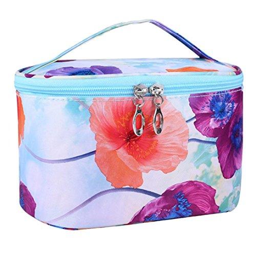 Cosmetic Organizer Kolylong Sac Maquillage Professionnel Cosmetic Bag Une Fleur Series Portable Sac A Main