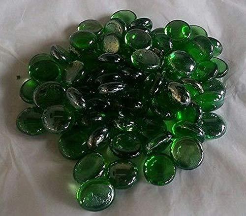 1 kg (app 230), Grün-Colour Pebbles/Glassteine-&Haus Garten, Hochzeit, Basteln und Aquarien