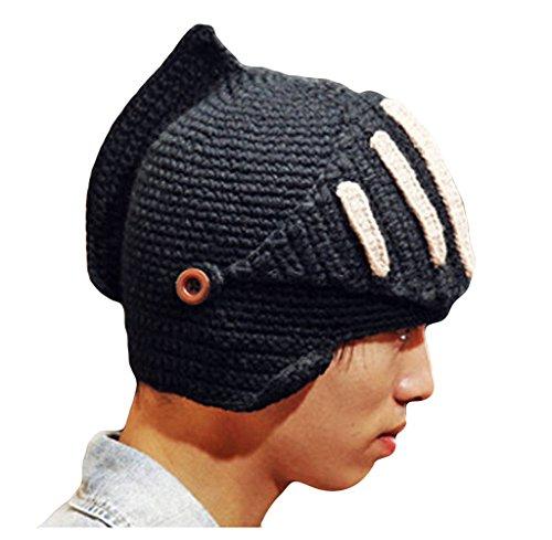 Roman Ritter Helm Style Wintermütze stricken Mütze Hut mit (Kostüme In Sie Rom Wenn)