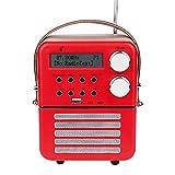 Mini dl Radio Digitale DAB e FM, Bluetooth e USB Play, Funzione Timer e set Sveglia con Batteria Ricaricabile (6.3/4.7/2.9inch)
