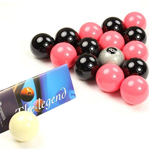EXCLUSIVA! Aramith Premier SILVER 8 BALL edición rosado y negro bolas de billar
