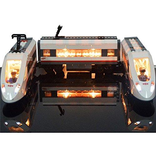 LIGHTAILING Conjunto de Luces (Tren De Pasajeros De Alta Velocidad) Modelo de Construcción de Bloques - Kit de luz LED Compatible con Lego 60051 (NO Incluido en el Modelo)