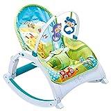Nombre: silla mecedora bebé  Material: plástico de ingeniería ABS  Especificaciones: largo * ancho * alto  Tamaño: 72 * 53 * 60 cm  Peso neto: 4.5kg  Capacidad de carga: 18kg.  Rango de uso: recién nacido ~ 2 años de edad  Lavado: Lavar a m...