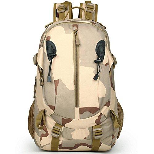 40L wasserdicht Tactical Military MOLLE Assault Rucksack groß Pack Rucksack für Camping Wandern Angeln Jagd Reisen und EDC Tagesrucksack Camouflaje