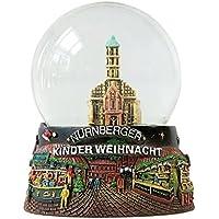 Bola de nieve Niños Navidad Mercado Nürnberg Christkindlmarkt 65mm diámetro