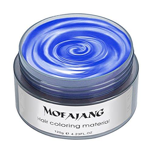 Elera temporäre Haarfarbe Wachs Profi Haarfärbemittel für Männer Frauen (Blau)