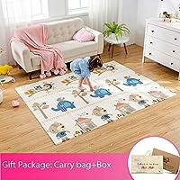 Infant Shining Baby Folding mat Play mat, 200 * 150CM, Foam playmat Crawling mat Reversible Waterproof Portable Kids Baby Toddler Carpet piannuo