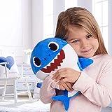 Dong Ran Requin De Bébé Baby Shark Chanter en Peluche Jouets avec Doux Musique Sonore Chanson Anglais Peluche Cadeaux et Jouets Enfants pour Garçon Fille (Bleu)