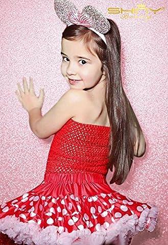 Shinybeauty 180x 180cm-sequin Fond Curtains-pink, Shimmer Paillettes Tissu pour nouvel an Mariage Photo Booth Toile de fond Fond à paillettes Rideau Dedcoration