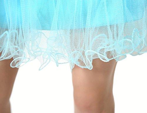 Sarahbridal Damen Tüll Abendkleider Kurz Herzenform Abschlusskleider Ballkleid mit Paillette SSD032 Lila-034