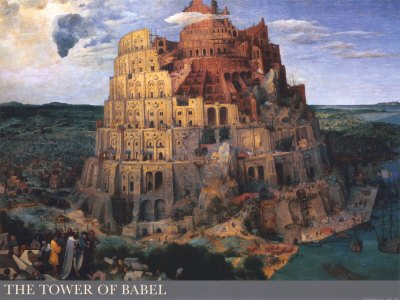 The Tower of Babel, c.1563 Art Poster Print by Pieter Bruegel the Elder, 82x61