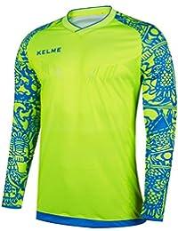 Kelme portero del fútbol de verano Camiseta manga 2017-18 formación profesional (Yellow/