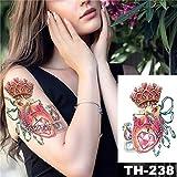 5Pc- Autoadesivo Del Tatuaggio Impermeabile Fiore Di Vite Modello Rosa Trasferimento Di Acqua Sotto Lo Sterno Spalla Body Art Tatuaggi Tattoo-In Da 24