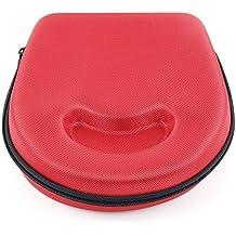 DURAGADGET Estuche / Carcasa Roja Para Los Auriculares JVC HA160 | Noontec Hammo Go | Sennheiser RS 160 - Diseño Ergonómico - Alta Calidad