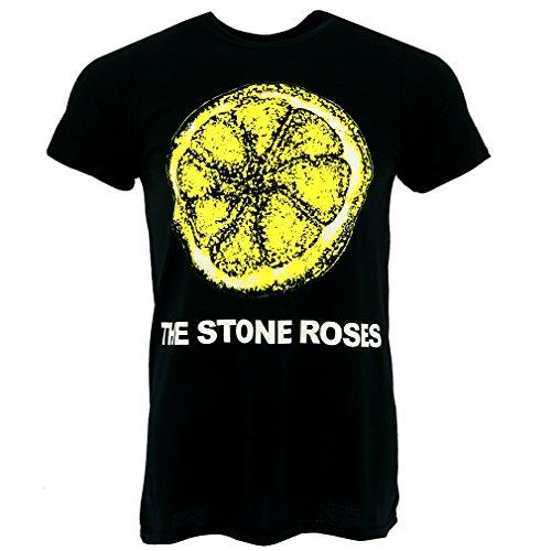 Men's Stone Roses Lemon 'N Logo Black T-shirt, Official - S to XXL