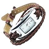 Damen Armbanduhr Uhren Watch Modeschmuck Leder Armband Quartz Farbenwahl Braun