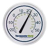 Termometro da giardino grande, 300mm, per interni o esterni, per parete casa, serra da giardino, ufficio, garage