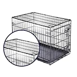 Pet Playpens Single Door Bold Wire Dog Cage, Portable Animal Fence, Outdoor Cat Pens Pet Supplies (Size : 75×48×56cm)