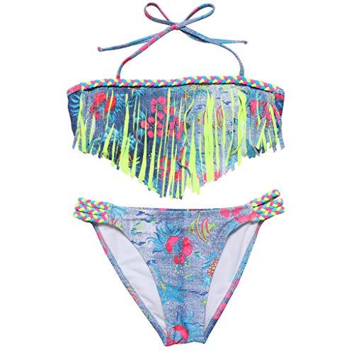 9ff7afbafa0b Costume Da Bagno Ragazza Estivi Spiaggia BANAA Due Pezzi Costumi Bagno  Bambina Mare Swimwear Vestito Sirena