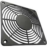 AERZETIX: 2x Grille noire de protection 120x120mm ventilation pour ventilateur boîtier ordinateur pc C15129
