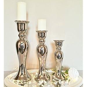 Kerzenständer Groß kerzenständer silber groß deine wohnideen de