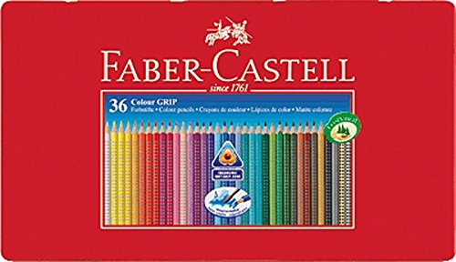 Faber Castell 112435 - Farbstifte Colour GRIP 2001, 36er Metalletui (2er Pack)