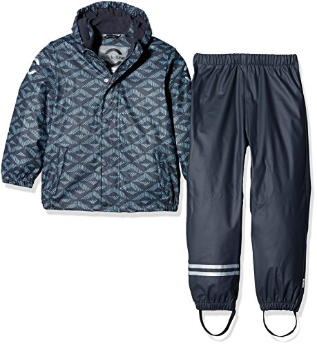 mikk-line PU Rainwear-SET Regenhose Und Regenjacke Wassersäule 8000, Conjunto de Ropa para Niños, Mehrfarbig (Parisian Blue 209), 6 años mikk-line