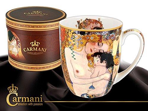 "Gustav Klimt Schöne große Tasse Becher \"" Lebensalter \"" Carmani Art Gallery"