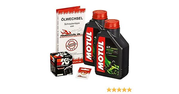 Motul 10w 40 Öl K N Ölfilter Für Kawasaki Kfx 700 04 09 Ölwechselset Inkl Motoröl Filter Dichtring Auto