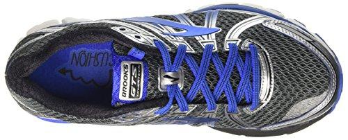 Brooks Adrenaline Gts 17, Scarpe da Corsa Uomo Grigio (Anthracite/ElectricBrooksBlue/Silver)