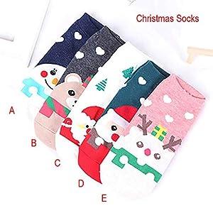 STYLEEA Erwachsene Frauen Männer Nette Liebes Weihnachtsmann Elch Schneemann Weihnachtssocken Socken Damen & Herren Weihnachten – kräftige Farben und Bunte Weihnachtsmotive