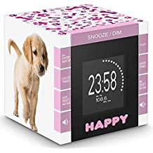BigBen RR70PDOGS2 - Reloj despertador con proyector, diseño perritos
