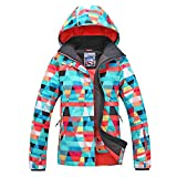 APTRO Women's ski Snowboard Jacket Waterproof Warm Winter Lined Jacket Colorful Printed 915 M