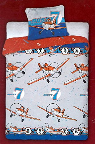 Bettwäsche Bettbezug Disney Planes & # •; Flugzeug Dusty 7& # •; 100% Baumwolle & # •; 140x 200cm + Kissenbezug & # •; Daunen Cover & # •; Bettbezug DUSTY 7 (Flugzeug Bettwäsche Disney)