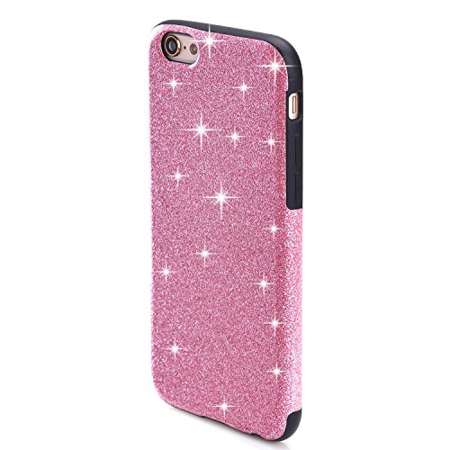 TENDLIN Coque iPhone 6s Bling Glitter et Flexible TPU Silicone Hybride Souple Housse Etui pour iPhone 6 et iPhone 6s, Or Rose