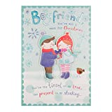 "Best Cartes Boyfriend - Hallmark Carte Boyfriend""Mistletoe"" carte de Noël Review"
